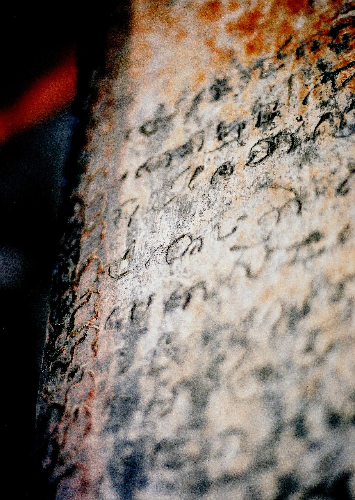 Old Khmer Inscription on Angkor Wat