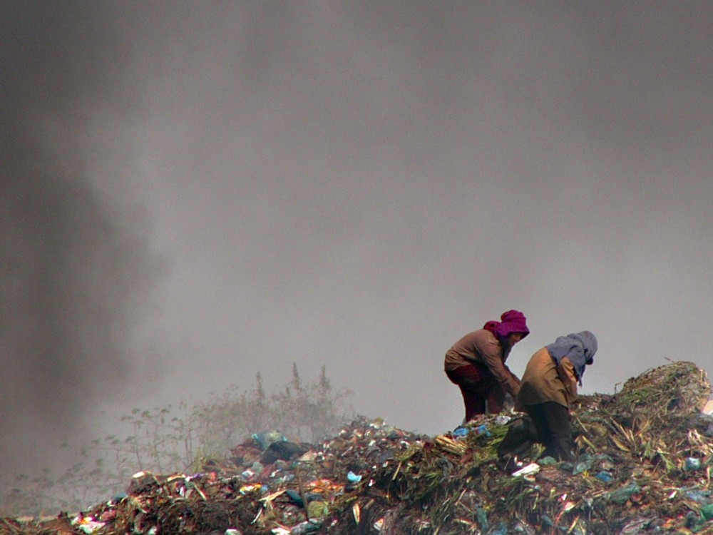 Trash Collectors at Phnom Penh Dump
