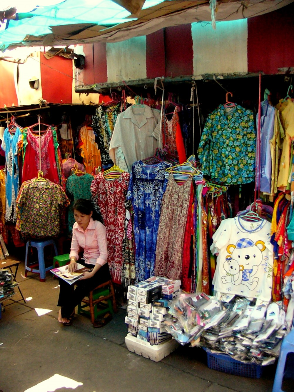 Selling Used Clothes in Cambodia