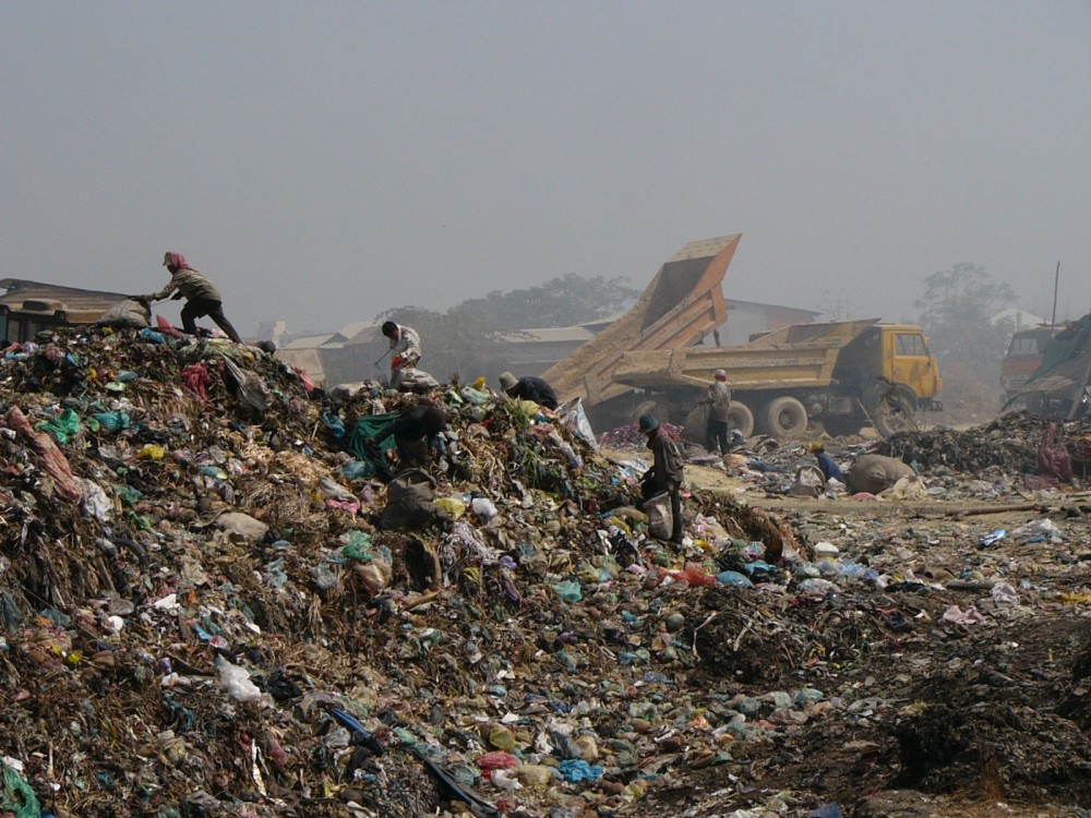 Mountains of Trash at Phnom Penh Dump