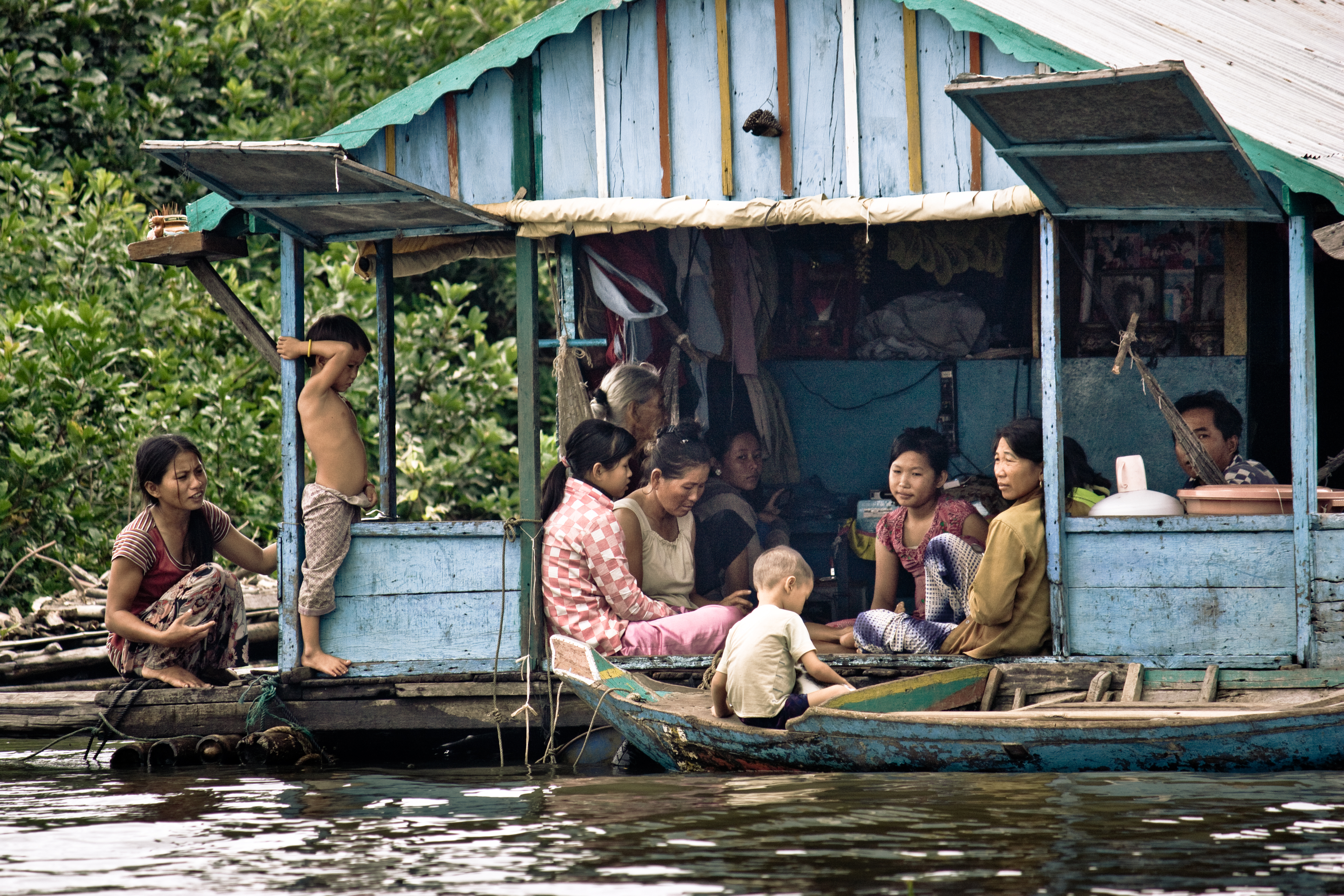 Houseboat on the Tonle Sap Cambodia