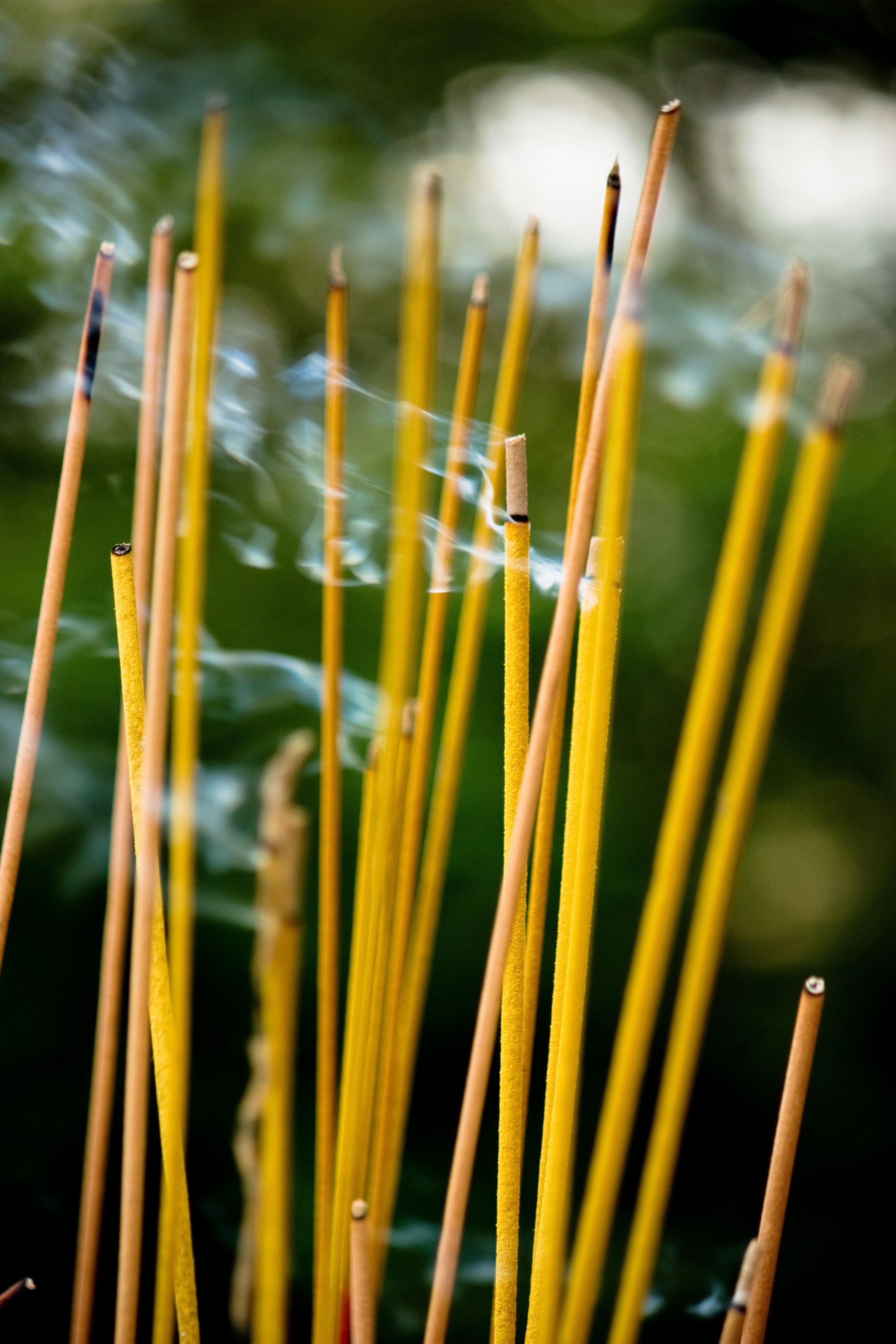 Cambodian Incense Burning