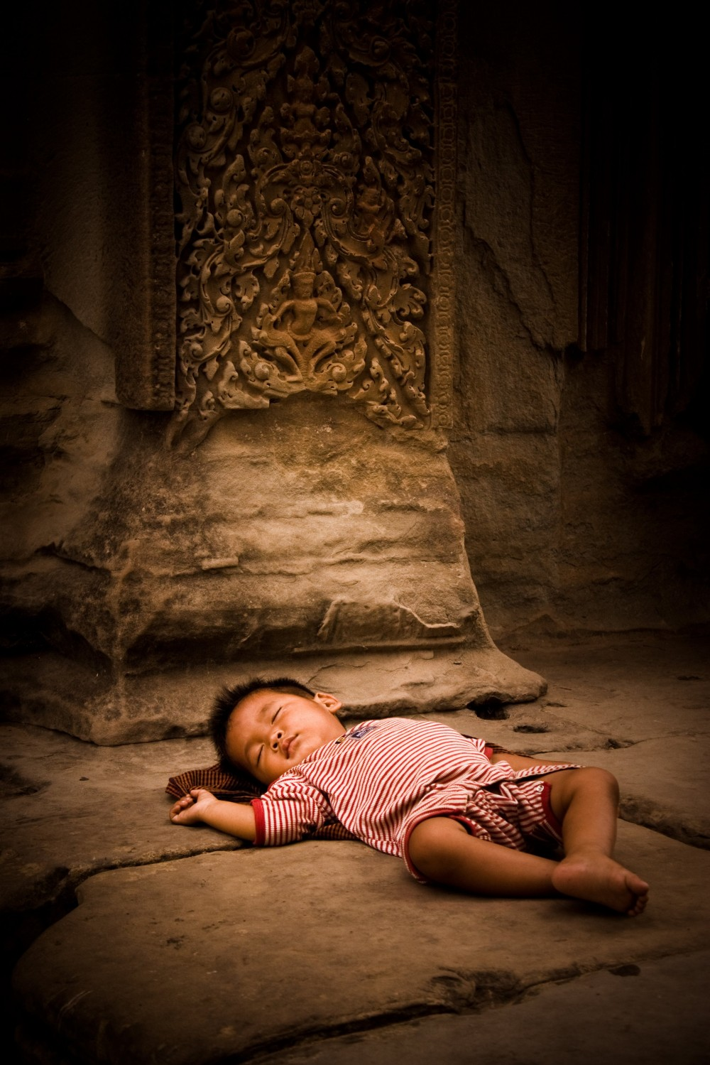 Baby at Angkor Wat