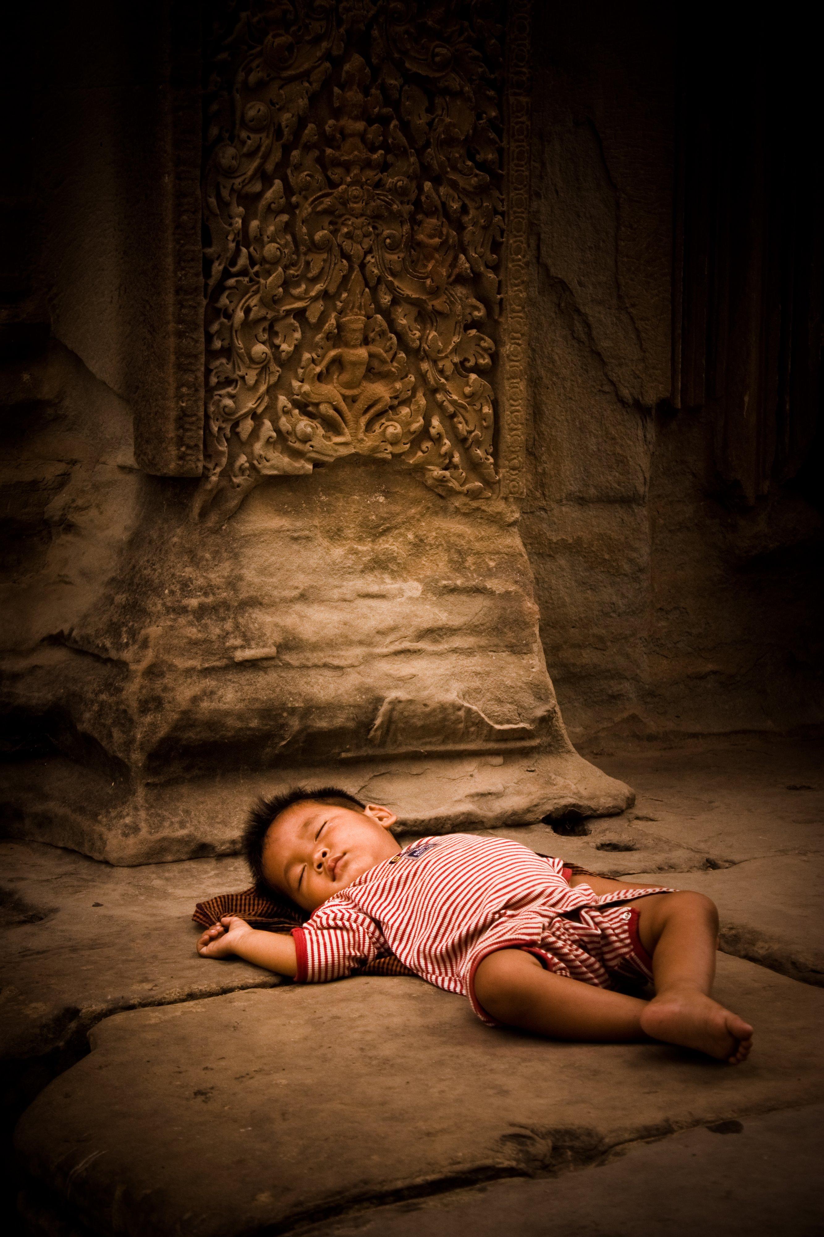Baby at Angkor Wat