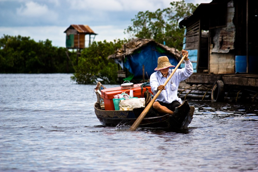 Ice Cream Boat in the Tonle Sap