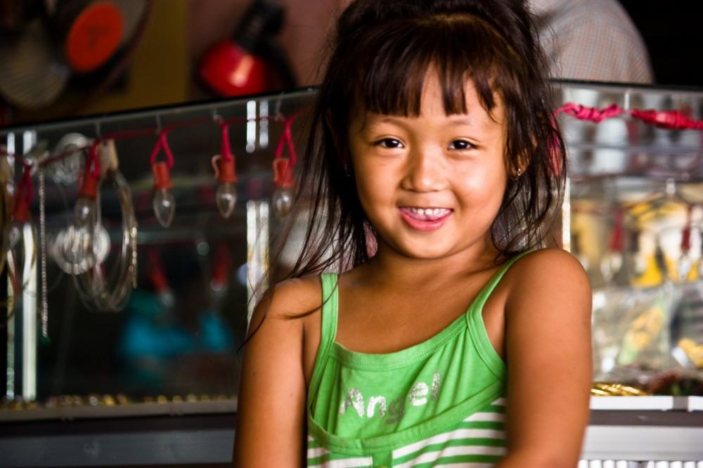 Little Cambodian Girl at Market