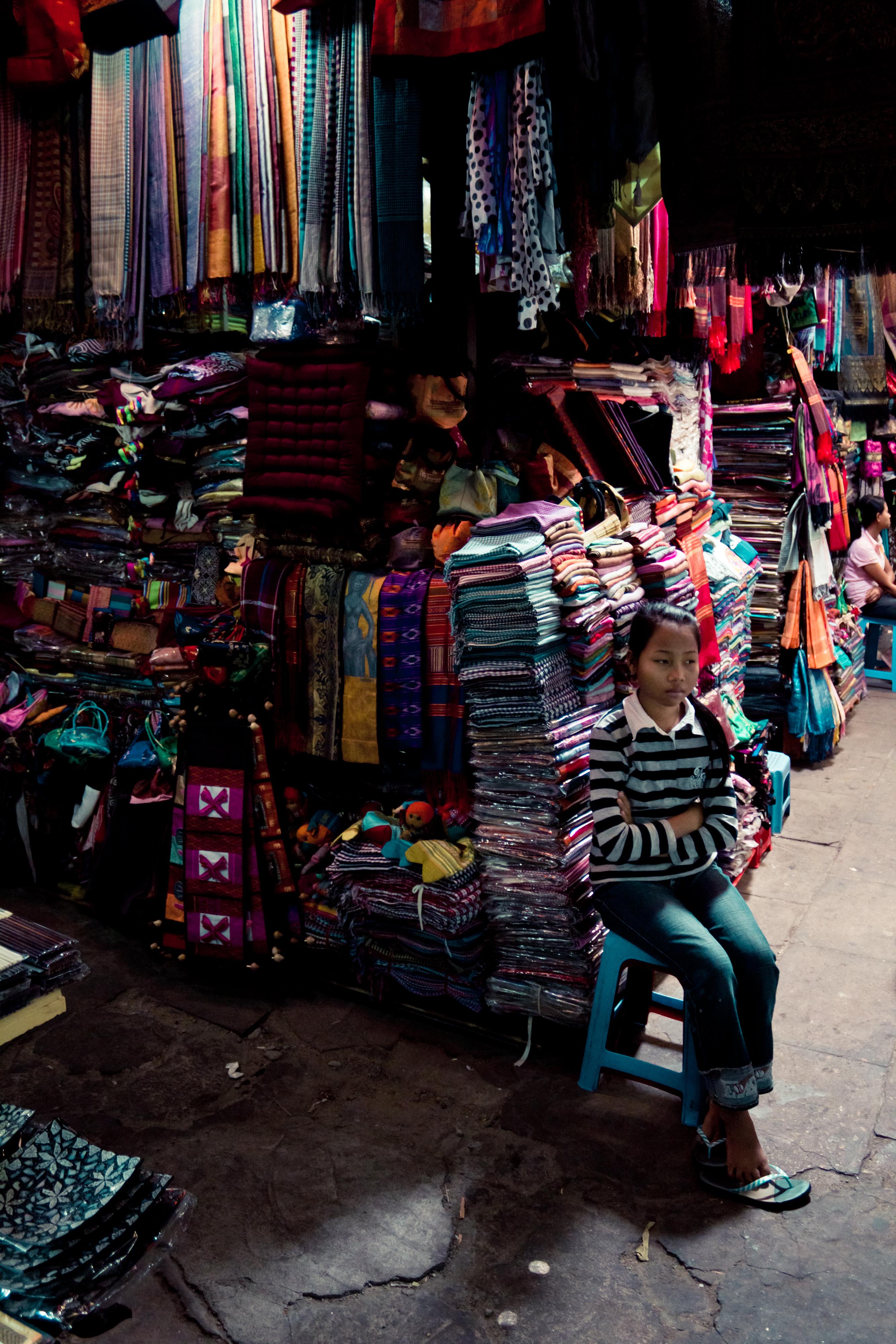 Krama Seller at Russian Market