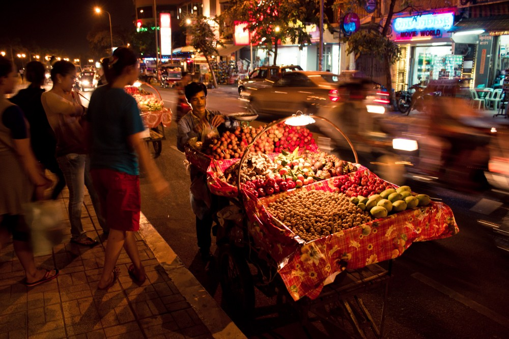 Fruit Cart on the Road Cambodia