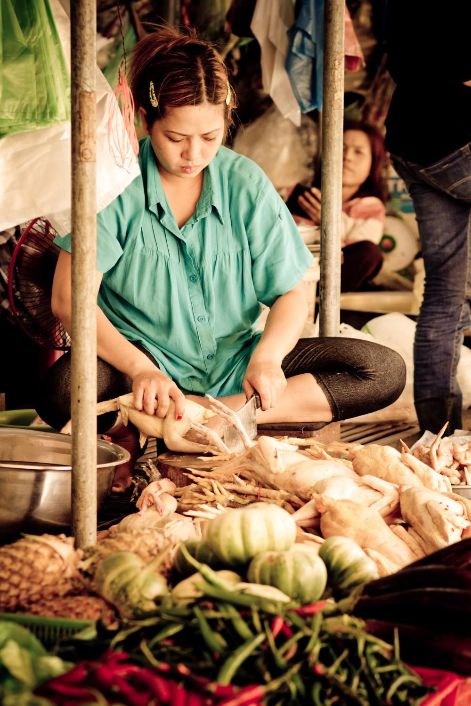 Chicken Seller in Phnom Penh