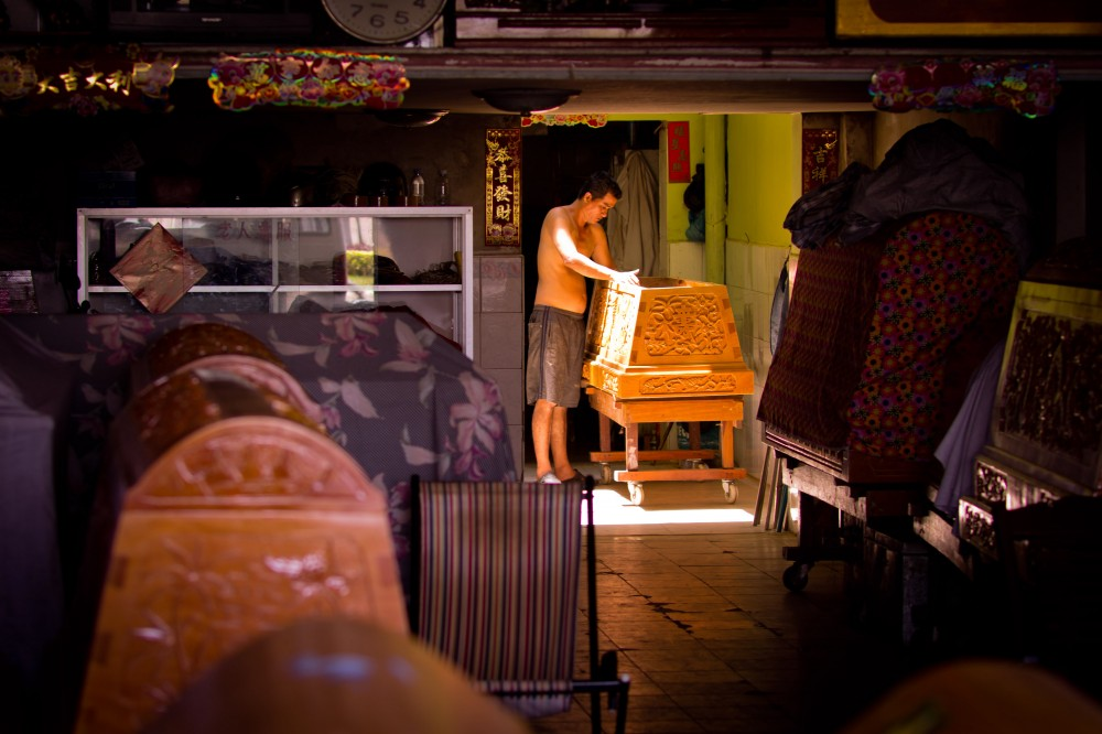 Chinese Coffin Maker in Phnom Penh