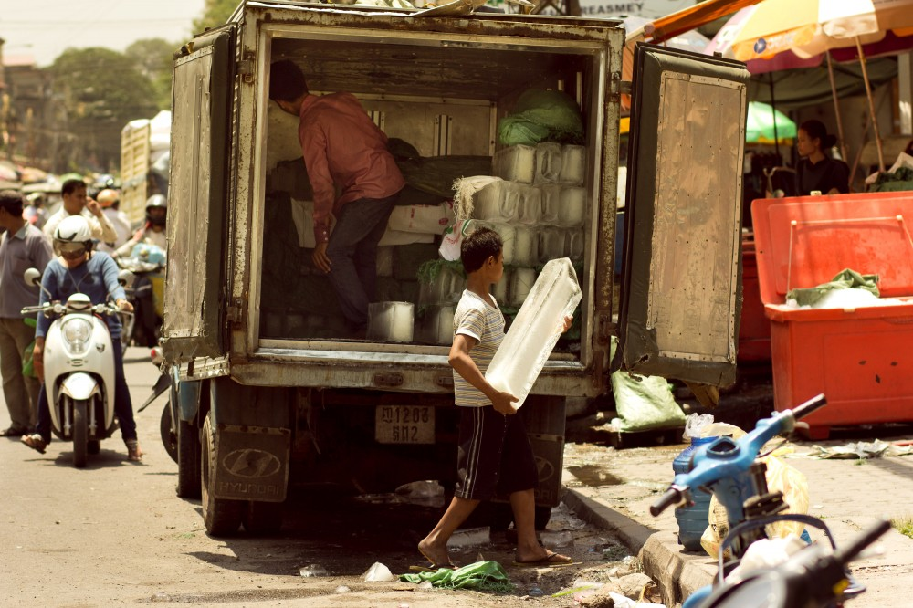 Ice Delivery in Phnom Penh