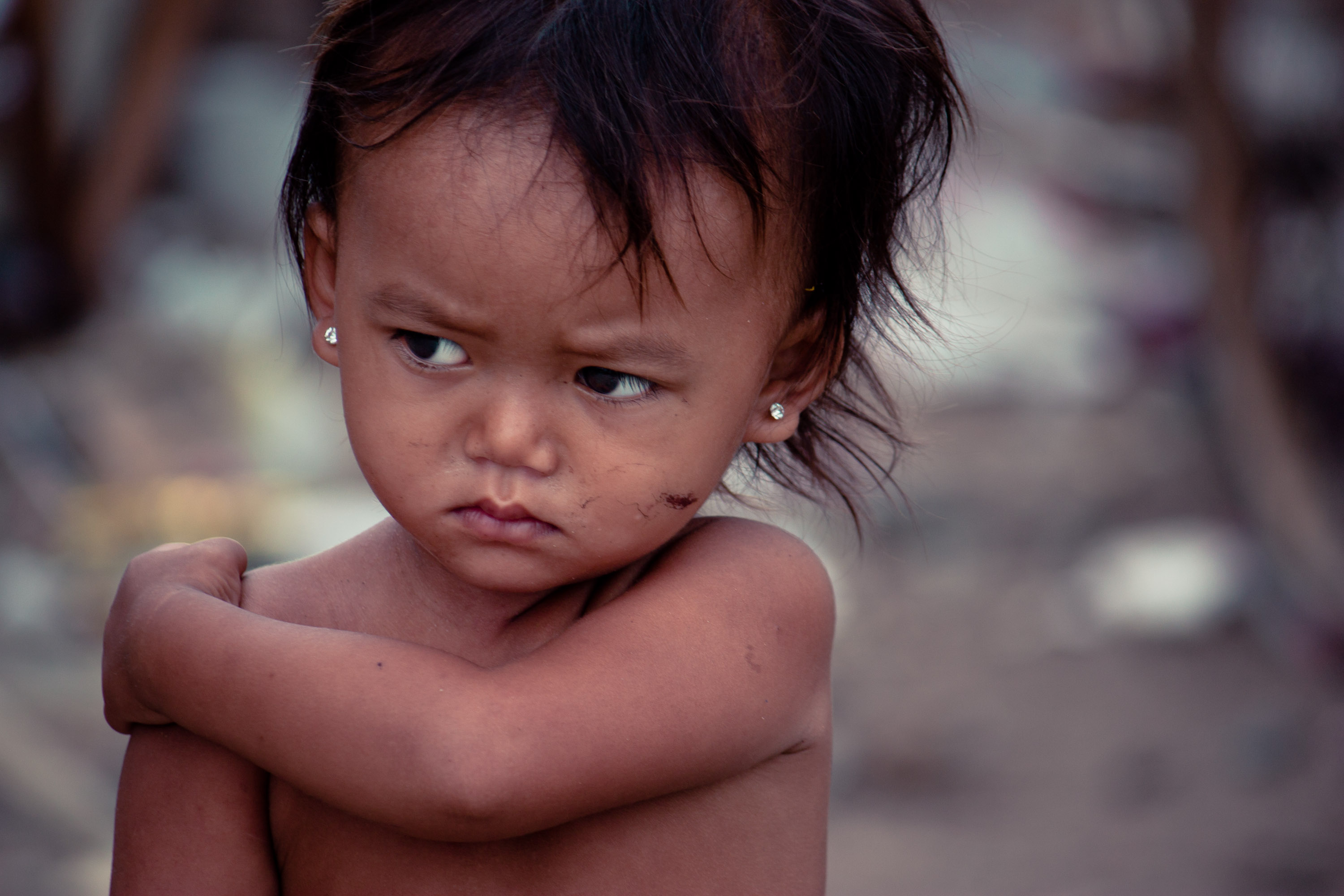 Little Cambodian Girl with a Scowl