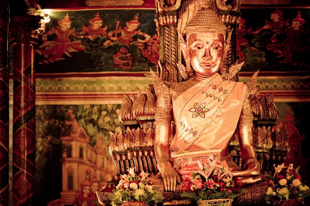 Buddha in Wat Phnom
