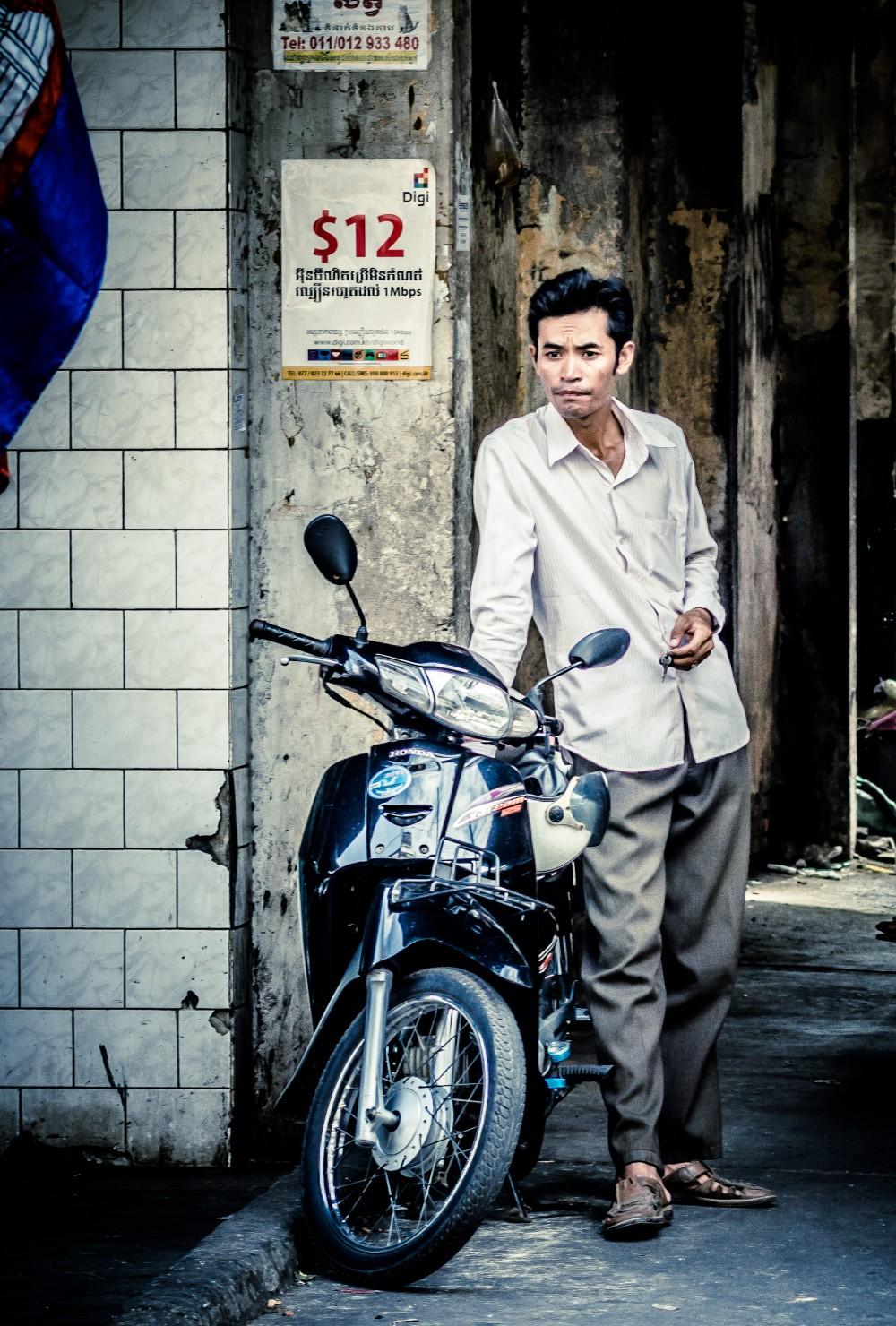Cambodian Moto Driver