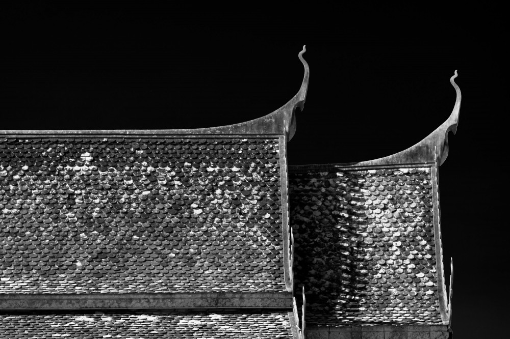 Roof of Cambodian Buddhist Wat Temple