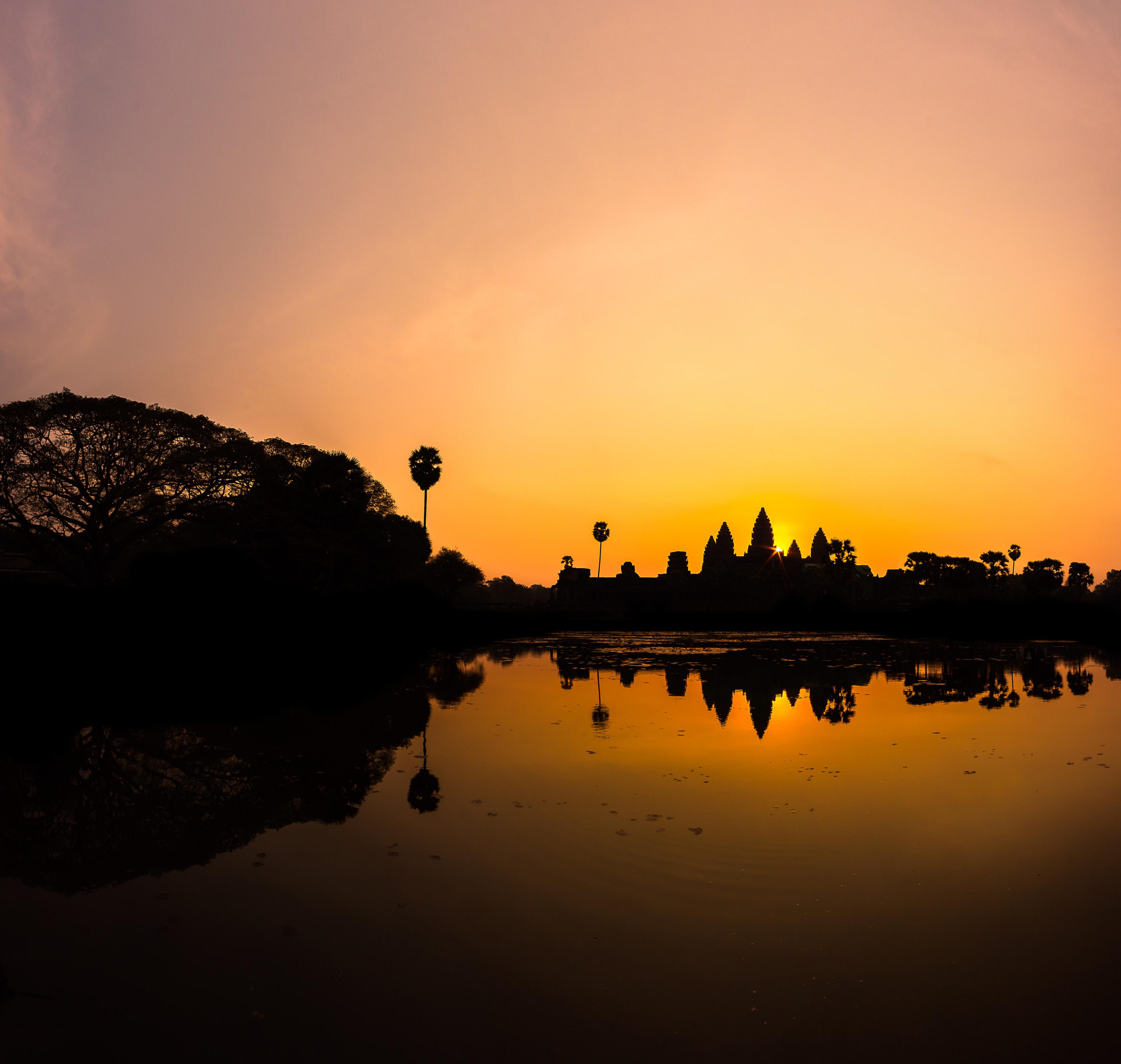 Angkor Wat Orange Sunrise