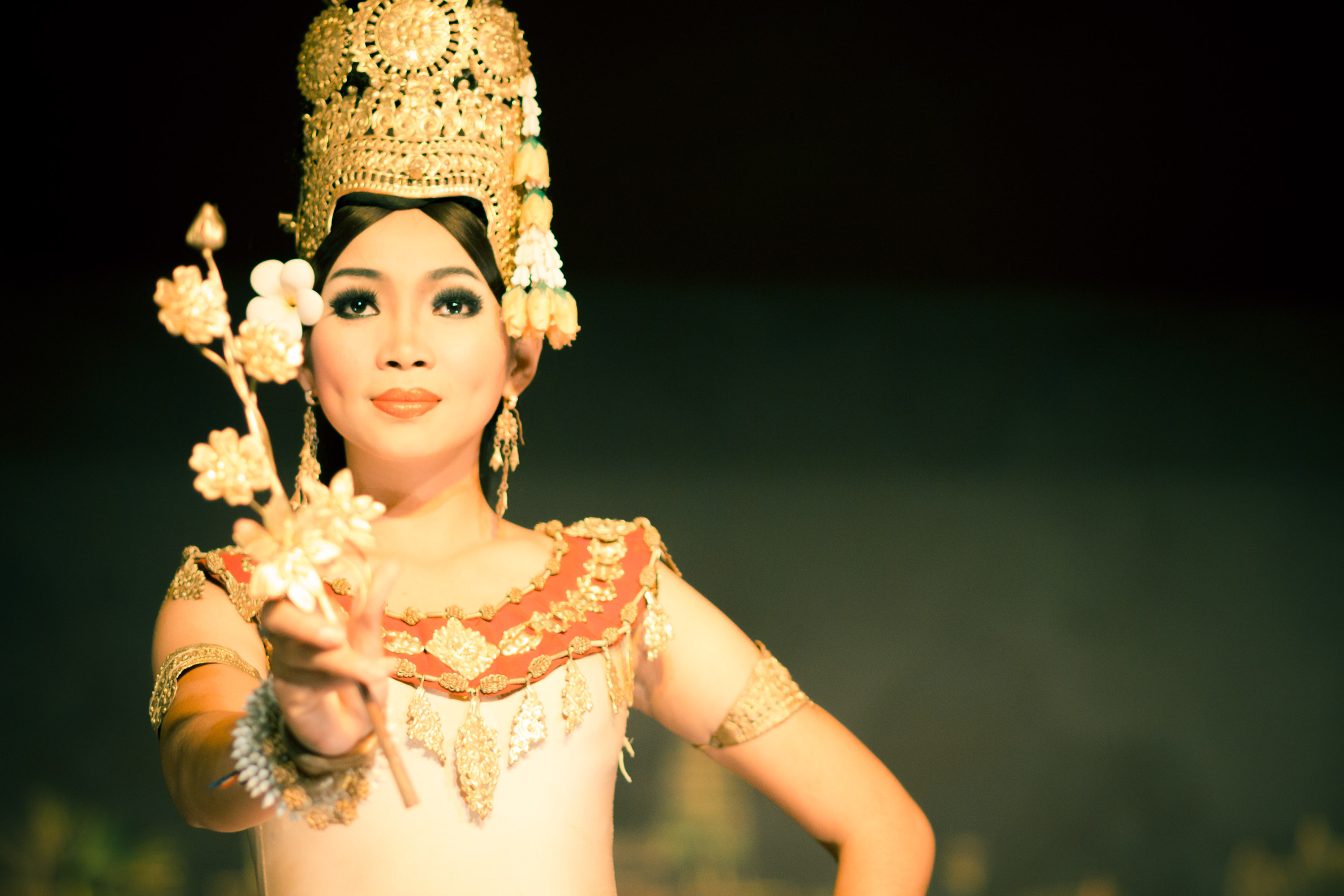 Khmer Apsara Dancer Flower