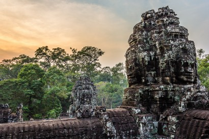 Bayon Face and Trees-5001