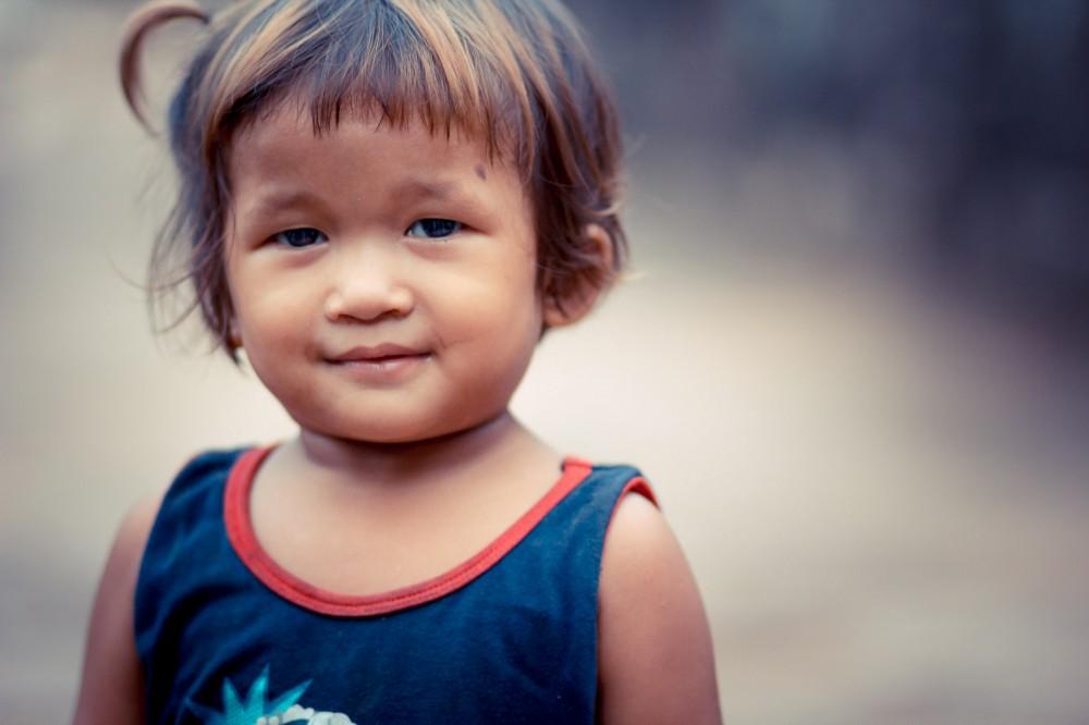 Cambodian Girl at Bayon
