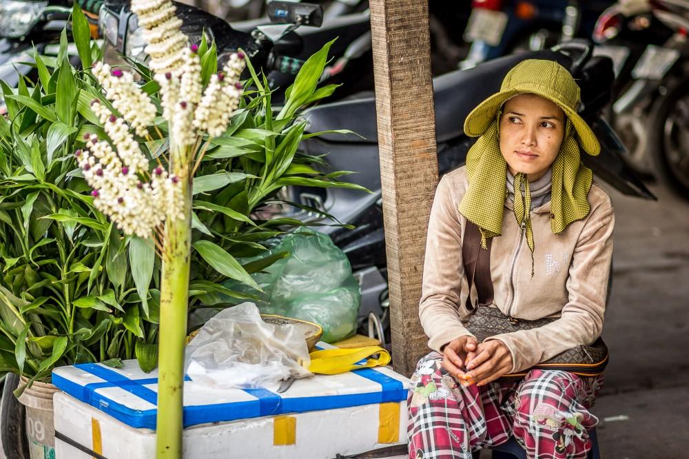 Flower Seller in Phnom Penh