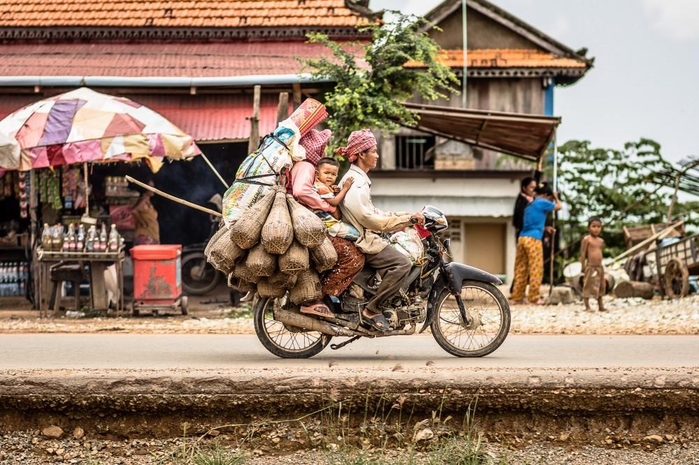 Moto, Family Rides Moto, Cambodia